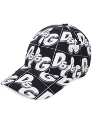 Dolce And Gabbana Logo Print Cap Blue
