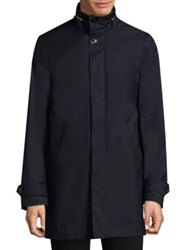 Paul Smith Concealed Hood Storm Jacket Navy