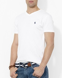 Polo Ralph Lauren Cotton V Neck Tee White