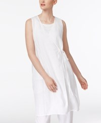 Eileen Fisher Linen Wrap Top Regular And Petite White