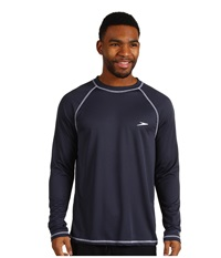 Speedo Easy L S Swim Tee New Navy Men's Swimwear