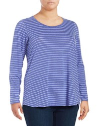 Marc New York Back Cutout Performance Top Purple