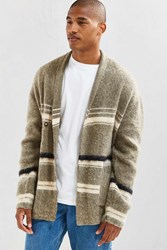 Urban Outfitters Uo Wrap Shawl Brushed Pattern Cardigan Taupe