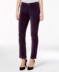 Styleandco. Style Co. Petite Velvet Slim Leg Jeans Only At Macy's Dark Grape