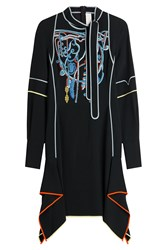 Peter Pilotto Embroidered Dress Black