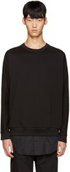 3.1 Phillip Lim Black Shirt Tail Pullover