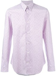 Maison Martin Margiela Maison Margiela Casual Printed Shirt Pink And Purple