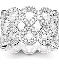 Thomas Sabo Eternity Of Love Sterling Silver Pave Zirconia Chunky Infinity Ring