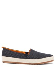 Mulo Floral Patterned Canvas Espadrilles Navy