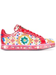 Dolce And Gabbana Mambo Print Sneakers