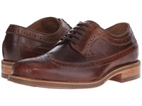 Trask Fiske Brown Full Grain American Steer Men's Lace Up Wing Tip Shoes