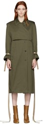 Ports 1961 Green Belted Trench Coat
