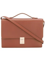 Paul Smith Accordion Detail Satchel Women Calf Leather One Size Brown
