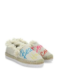 Rebecca Minkoff Baylee Beach Hair Don't Care Espadrilles Natural