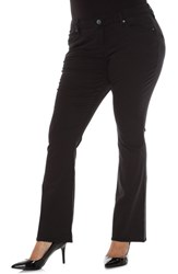 Slink Jeans Plus Size Women's Stretch Twill Bootcut Pants