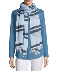 Dune Multi Striped Scarf Ice Water Multi Women's Ice Water Multi Lafayette 148 New York