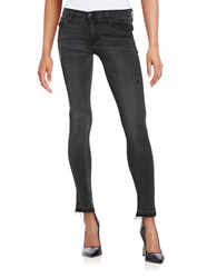Flying Monkey Distressed Ankle Length Jeans Blue Verse