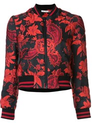 Alice Olivia Jacquard Cropped Jacket Black