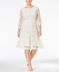 Ing Trendy Plus Size Lace A Line Dress Natural