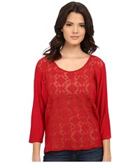 Ariat Candice Top Chili Pepper Women's Long Sleeve Pullover Red