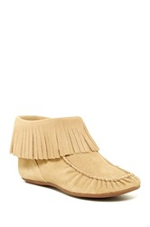 Bettye Muller Tango Fringe Moccasin Ankle Boot Brown