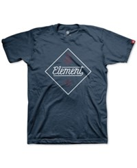 Element Men's Stadium Graphic Print Logo T Shirt Navy