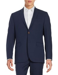 Lauren Ralph Lauren Two Button Wool Jacket Navy