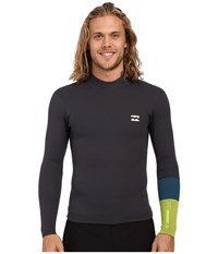 Billabong 202 Reverse Shifty Long Sleeve Surf Jacket Graphite Men's Swimwear Gray