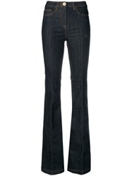 Elisabetta Franchi High Rise Flared Jeans Blue