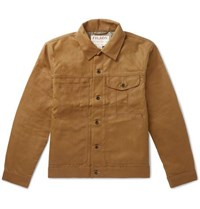 Filson Short Lined Cruiser Waxed Cotton Jacket Brown