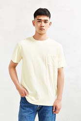 Urban Outfitters Uo Pigment Pocket Tee Yellow