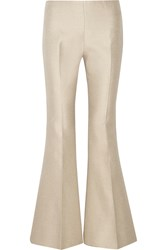 Acne Studios Mello Cotton And Silk Blend Flared Pants Gray