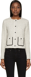 Rag And Bone Black And White Tweed Canon Jacket