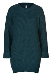Faith Connexion Alpaca Wool Ribbed Knit Pullover In Blue