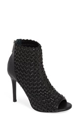 Charles By Charles David Reece Open Toe Bootie Black Faux Leather