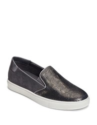 Aerosoles Milestone Leather Suede And Faux Leather Athletic City Sneakers Dark Grey