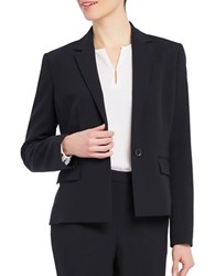Ellen Tracy Satorial Sophistication One Button Blazer Black