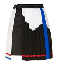 Versace Colour Block Pleated A Line Skirt Female Black