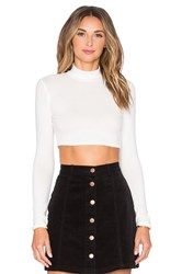 Nytt Nora Turtleneck Crop Top White