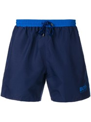 Hugo Boss Swim Logo Shorts Blue