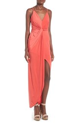 Women's Lovers Friends 'Eye Catching' Front Twist Maxi Dress
