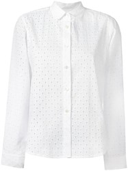Peter Jensen Broderie Anglaise Shirt White