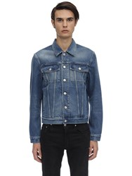 Burberry Logo Cotton Denim Jacket Indigo Blue