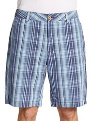 Tailor Vintage Plaid Hybrid Walking Shorts Indigo