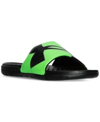 Under Armour Men's Strike Optic Slide Sandals From Finish Line Black Green