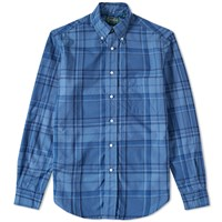 Gitman Brothers Vintage Archive Check Poplin Shirt Blue