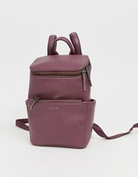 Matt And Nat Mini Brave Backpack In Fig Purple