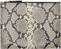Maison Martin Margiela Taupe Snake Embossed Document Holder