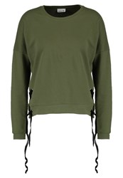 Noisy May Nmecho Sweatshirt Burnt Olive