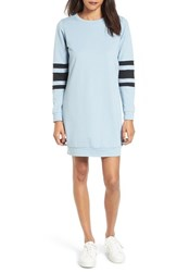 Fire Women's Sweatshirt Dress Light Blue